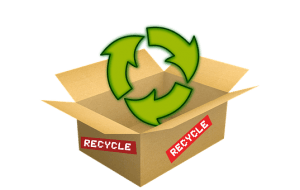 Find free boxes in recycling center