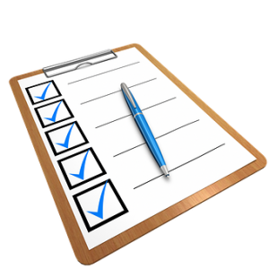 Checklist - something that will help when last minute moving
