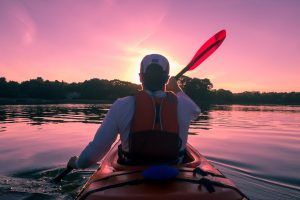 Kayaking to stay in shape for the move