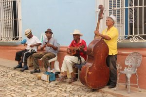 Cuban people playing music
