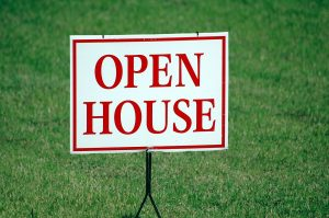 sign - house for sale, open house