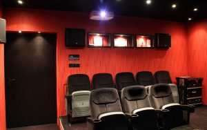Moving a home theater system can take up a lot of space, as we can see here.