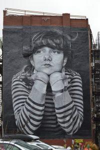 The famous Brooklyn girl grafitti