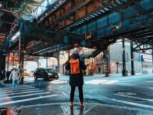 Image of a man standing on a street