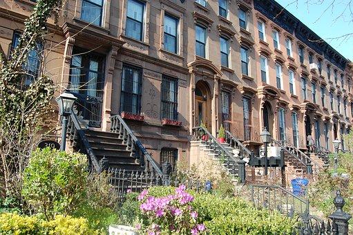 Building in Fort Greene neighborhood in Brooklyn
