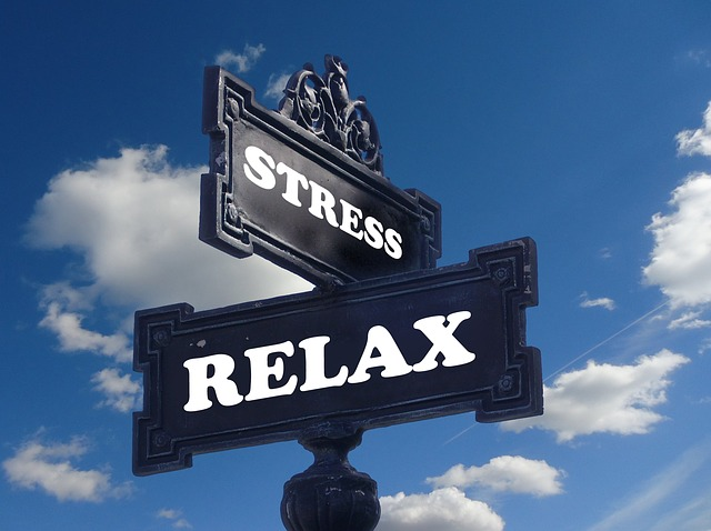 Crosswords sign: stress one way, the other way relax says you can choose to reduce the stress on moving day