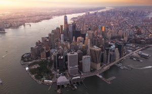 aerial picture of Manhattan