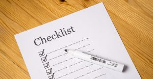Picture of a useful checklist to simplify last-minute moving