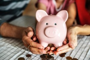 get a piggy bank when you start to prepare your moving budget