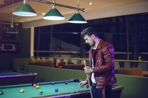 Man playing pool