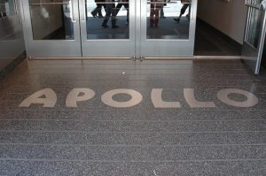 The entrance to the Apollo Theatre