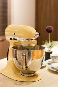 Kitchen aid mixer in yellow