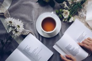 read a book and drink tea on your first day in your new home