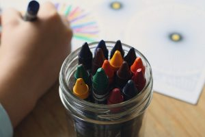 Crayons - all daycare centers in New York have them