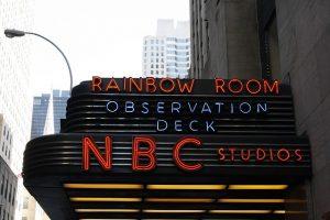 Rainbow Room neon lights banner