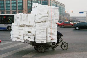 cargo moved by a tricycle