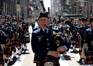 parade on the St.Patrick's Day in NYC