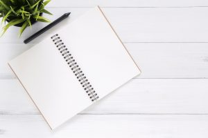agenda and a pen